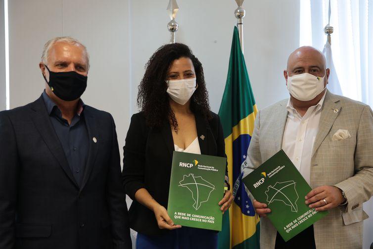 Celebração do Acordo de Cooperação de Adesão à Rede Nacional de Comunicação Pública de TV/EBC pela TV UNIR e Visita da Reitora, Marcele Regina , da Universidade Federal de Rondônia - UNIR